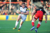 Henry Thomas of Bath Rugby in possession. Aviva Premiership match, between Saracens and Bath Rugby on January 30, 2016 at Allianz Park in London, England. Photo by: Patrick Khachfe / Onside Images