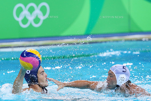 Akira Yanase (JPN), <br /> AUGUST 8, 2016- Water Polo : <br /> Men's Preliminary Round group A<br /> match between Japan - Brazil <br /> at Maria Lenk Aquatic Centre <br /> during the Rio 2016 Olympic Games in Rio de Janeiro, Brazil. <br /> (Photo by Koji Aoki/AFLO SPORT)