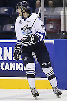 QMJHL (LHJMQ) hockey profile photo on Rimouski Oceanic Scott Oke October 6, 2012 at the Colisee Pepsi in Quebec city.