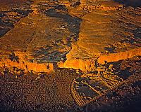 Aerial View of Pueblo Bonito, Chaco Culture National Historic Park, New Mexico