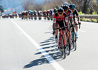 Picture by Alex Broadway/SWpix.com - 11/03/17 - Cycling - 2017 Paris Nice - Stage Seven - Nice to Col de la Couillole - BMC Racing Team on the front of the peloton.