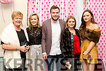 Rachel Moynihan, Cliodhna Moynihan, Donal Moynihan, Aoife Ashe and Una O'Connell at the  'One Wedding And A Funeral' event at at the Na Gaeil GAA  clubhouse on Saturday night