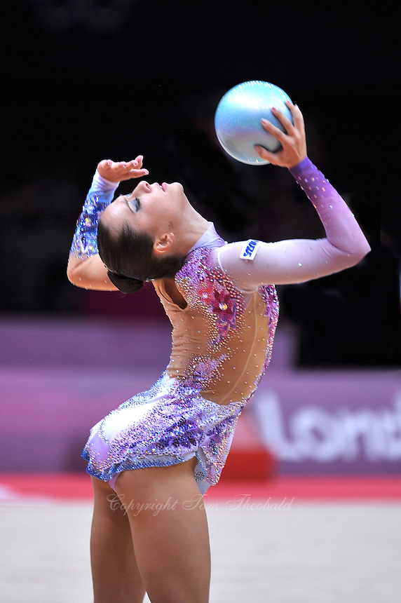 August 9, 2012; London, Great Britain; SILVIYA MITEVA of Bulgaria  performs with ball on day 1 of qualifying at London 2012 Olympics.