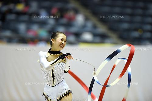 Ryoko Inomata, <br /> NOVEMBER 16, 2014 - Rhythmic Gymnastics : 67th All Japan Rhythmic Gymnastics Championships, Women's Individual Ribbon at Yoyogi 1st Gymnasium in Tokyo, Japan. <br /> (Photo by AFLO SPORT) [1220]