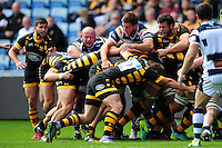 Forwards compete at a maul. Pre-season friendly match, between Wasps and Yorkshire Carnegie on August 21, 2016 at the Ricoh Arena in Coventry, England. Photo by: Patrick Khachfe / JMP