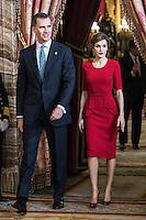 APR 22 Queen Letizia and King Felipe  -Miguel de Cervantes 2015