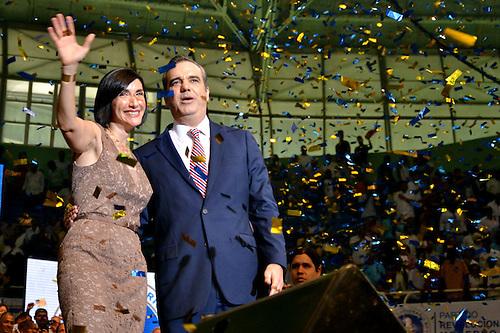 Raquel Arbaje y Luis Abinader