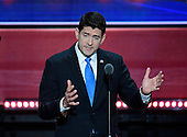 Speaker of the United States House of Representatives Paul Ryan (Republican of Wisconsin) makes remarks at the 2016 Republican National Convention held at the Quicken Loans Arena in Cleveland, Ohio on Tuesday, July 19, 2016.<br /> Credit: Ron Sachs / CNP<br /> (RESTRICTION: NO New York or New Jersey Newspapers or newspapers within a 75 mile radius of New York City)