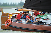 SKUTSJESILEN: SKS2013: SKS kampioenschap 2013, schipper Grou, Douwe Azn. Visser, ©foto Martin de Jong
