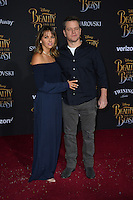 Matt Damon &amp; Luciana Barroso at the premiere for Disney's &quot;Beauty and the Beast&quot; at El Capitan Theatre, Hollywood. Los Angeles, USA 02 March  2017<br /> Picture: Paul Smith/Featureflash/SilverHub 0208 004 5359 sales@silverhubmedia.com