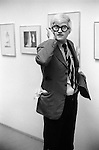 David Hockney his private view at the Kasmin Gallery, Bond Street, London Uk. December 1969.
