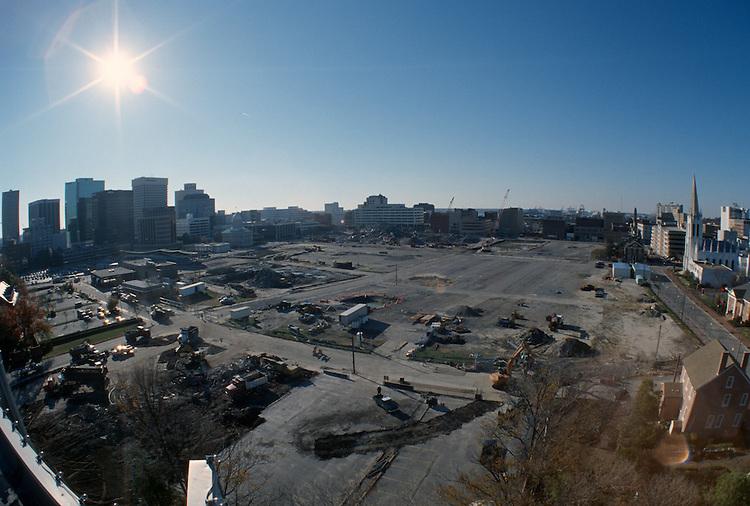 1996 DECEMBER 03..Redevelopment..Macarthur Center.Downtown North (R-8)..LOOKING WEST.SUPERWIDE...NEG#.NRHA#..