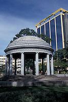 The Templo de Musica in Parque Morazan, San Jose Costa, Rica. The Aurola Holiday Inn hotel is in the background.