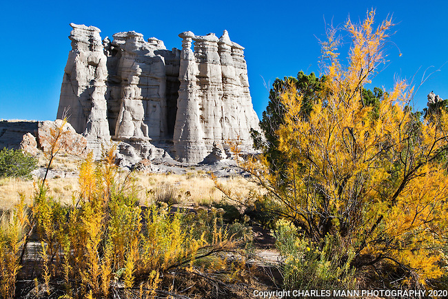 Plaza Blanca, also known as The White Place, is near the town of Abiquiu, New Mexico, is a popular hiking destination and was also a subject painted by renowned painter Georgia O'Keefe.