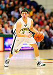 30 January 2010: University of Vermont Catamount guard Joey Accaoui, a Junior from Lincoln, RI, in action against the University at Albany Great Danes at Patrick Gymnasium in Burlington, Vermont. The Catamounts defeated the Danes 64-46 in the America East matchup. Mandatory Credit: Ed Wolfstein Photo