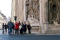 Roma 10 Marzo 2015<br /> Restaurato il complesso monumentale  delle Quattro Fontane<br /> Il Tevere, l&rsquo;Arno, Giunone e Diana tornano a zampillare dopo nove mesi di lavori finanziati dalla maison Fendi  per un costo totale di 320.000 euro. La fontana Tevere<br /> Rome March 10, 2015<br /> Restored the monument of Quattro Fontane<br /> The Tiber, the Arno, Juno and Diana return to gush after nine months of work funded by the fashion house Fendi for a total cost of 320,000 Euros. The fountain the River Tiber