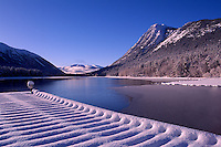 Chilko Lake and Coast Mountains in Ts'yl-os Provincial Park, Cariboo Chilcotin Coast Region, BC,  British Columbia, Canada - Winter