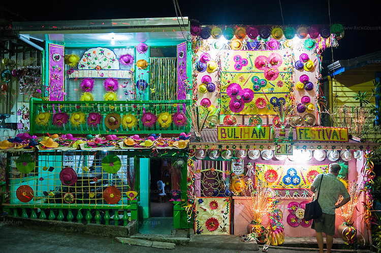 Buri Home Decorations At Night 9 Sampaloc Quezon Province The Philippines Rick Collier Imagery