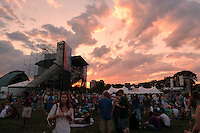 Sunset at the Gathering of the Vibes 2010, Seaside Park, Bridgeport, Connecticut