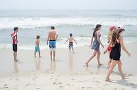 Sag beach with Hollanders and Lentjes. The Barn. Bridgehampton, New York 2014