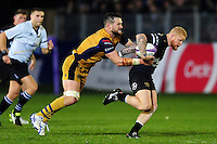 Tom Homer of Bath Rugby is tackled. European Rugby Challenge Cup match, between Bath Rugby and Bristol Rugby on October 20, 2016 at the Recreation Ground in Bath, England. Photo by: Patrick Khachfe / Onside Images