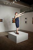 Along with running the Visual Art Exchange, Sarah Powers has been involved with wide-ranging work throughout Raleigh, Thursday, July 12 , 2012.