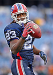 4 November 2007: Buffalo Bills running back Marshawn Lynch warms up prior to a game against the Cincinnati Bengals at Ralph Wilson Stadium in Orchard Park, NY. Lynch had a career-best 153 yards rushing, including a 56-yard touchdown run in the final minutes of the game. The Bills defeated the Bengals 33-21 in front of a sellout crowd of 70,745...Mandatory Photo Credit: Ed Wolfstein Photo