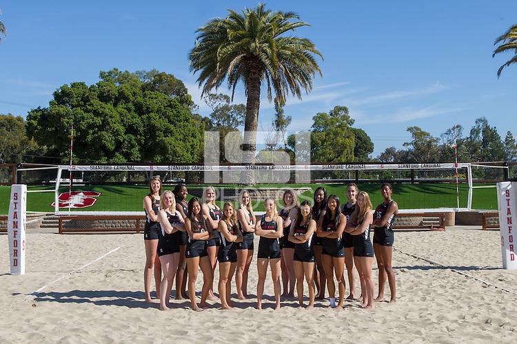 STANFORD, CA - MARCH 31, 2016-- Stanford Women's Beach Volleyball Team