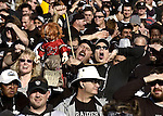 Raiders fans express their opinion of Buccaneers head coach Jon Gruden before the Superbowl on Sunday, January 19, 2003, in Oakland, California. The Raiders defeated the Titans 41-24 in the conference championship game.