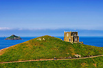 Doyden Castle, Cornwall..Doyden Castle, situated an hour's walk from Port Quin on a cliff overlooking Lundy Bay, was built in about 1830 by local hedonist Samuel Symons to entertain friends to nights of feasting, drinking and gambling. Today it has been converted into accommodations.