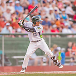 20 August 2015: Vermont Lake Monsters infielder Richie Martin at bat against the Tri-City ValleyCats at Centennial Field in Burlington, Vermont. The Stedler Division-leading ValleyCats defeated the Lake Monsters 5-2 in NY Penn League action. Mandatory Credit: Ed Wolfstein Photo *** RAW Image File Available ****