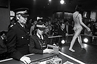 Pix: Barry Wilkinson/SWpix.com. The Yorkshire Ripper Archive. 14th May 1979 - 11th May1980...COPYRIGHT PICTURE>>SIMON WILKINSON>>0870 092 0092>>..Police Play Ripper tape at a strip show.