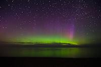 Northern Lights over Lake Superior. Marquette, MI