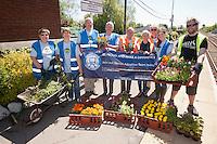 Blythe Bridge volunteers celebrate their achievements at the station.