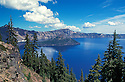 Wizard Island in Crater Lake; Crater Lake National Park, Oregon.