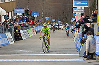 The 4th stage of Tirreno Adriatic from Narni to Prati di Tivo was won by Froome Christpher team Sky ProCycling on March 9, 2013. In the photo Santabrogio Mauro Vini Fantini. Photo Credit: Diloreto A.