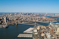 aerial photograph East River, Brooklyn, Manhattan New York City