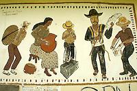 Mural in the Lenca Indian village of La Campa, Lempira, Honduras