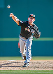 7 March 2016: Miami Marlins pitcher Nick Wittgren on the mound during a Spring Training pre-season game against the Washington Nationals at Space Coast Stadium in Viera, Florida. The Nationals defeated the Marlins 7-4 in Grapefruit League play. Mandatory Credit: Ed Wolfstein Photo *** RAW (NEF) Image File Available ***