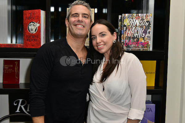 MIAMI, FL - NOVEMBER 06: Andy Cohen and Sharon Steel-Cardenal pose picture during Andy Cohen book signing of his paperback release 'The Andy Cohen Diaries: A Deep Look at a Shallow Year' at Books and Books At Adrienne Arsht Center on November 6, 2015 in Miami, Florida. Credit: MPI10 / MediaPunch