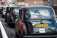 Taxi rank outside Waterloo Station, London, England
