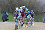 Riders on gravel sector 8 Monte Santa Maria during the 2017 Strade Bianche running 175km from Siena to Siena, Tuscany, Italy 4th March 2017.<br /> Picture: Eoin Clarke | Newsfile<br /> <br /> <br /> All photos usage must carry mandatory copyright credit (&copy; Newsfile | Eoin Clarke)