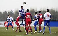 Cole Kpekawa of QPR rises highest
