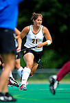 28 August 2009: University of Vermont Catamounts' midfield/defenseman Jenna Horowski, a Junior from Zionville, PA, in action against the Boston College Eagles at Moulton Winder Field in Burlington, Vermont. The Eagles shut out the Catamounts 3-0 in Vermont's first game of the 2009 season. Mandatory Photo Credit: Ed Wolfstein Photo
