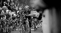Fleche Wallonne 2012..Andy Schleck chaperoned by Jens Voigt