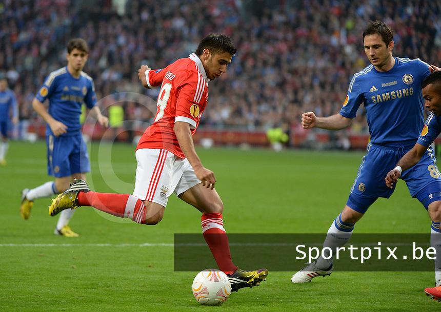 Benfica Lissabon - Chelsea FC : Eduardo Salvio .foto DAVID CATRY / Nikonpro.be