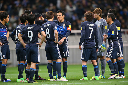 Makoto Hasebe (JPN), <br /> MARCH 24, 2016 - Football / Soccer : <br /> FIFA World Cup Russia 2018 Asian Qualifier <br /> Second Round Group E match <br /> between Japan 5-0 Afghanestan <br /> at Saitama Stadium 2002, Saitama, Japan. <br /> (Photo by YUTAKA/AFLO SPORT)