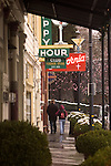 Couple walking through Old Town Auburn
