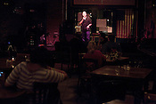 April 9, 2012. Raleigh, NC.. A stand up comedy event was held at Tir Na Nog with a sparse audience.