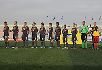 USMNTU17 line up for the National Anthem US Men's National Team Under 17 defeated Malawi 1-0 in the second game of the FIFA 2009 Under-17 World Cup at Sani Abacha Stadium in Kano, Nigeria on October 29, 2009.